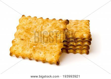 Cookies on a white background isolated. closeup