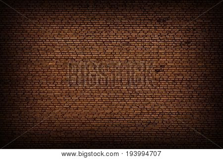 Brick wall of brown red color background. Vintage old masonry