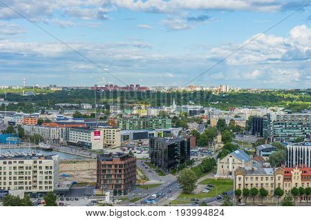 Tallinn, Estonia - 05.07.2017 Aerial View Of Tallinn In A Beautiful Day Tallinn,estonia