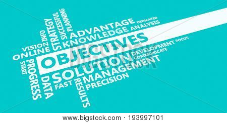 Objectives Presentation Background in Blue and White