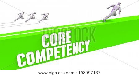 Core Competency as a Fast Track To Success 3D Illustration Render