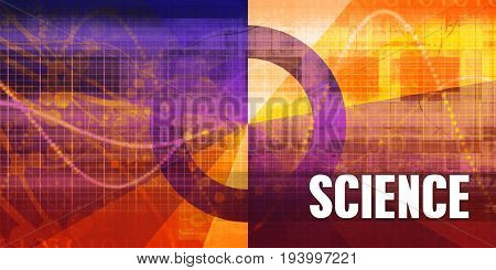Science Focus Concept on a Futuristic Abstract Background