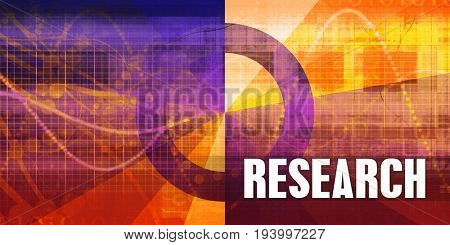 Research Focus Concept on a Futuristic Abstract Background