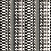Illustration of silver plated chain link pattern poster
