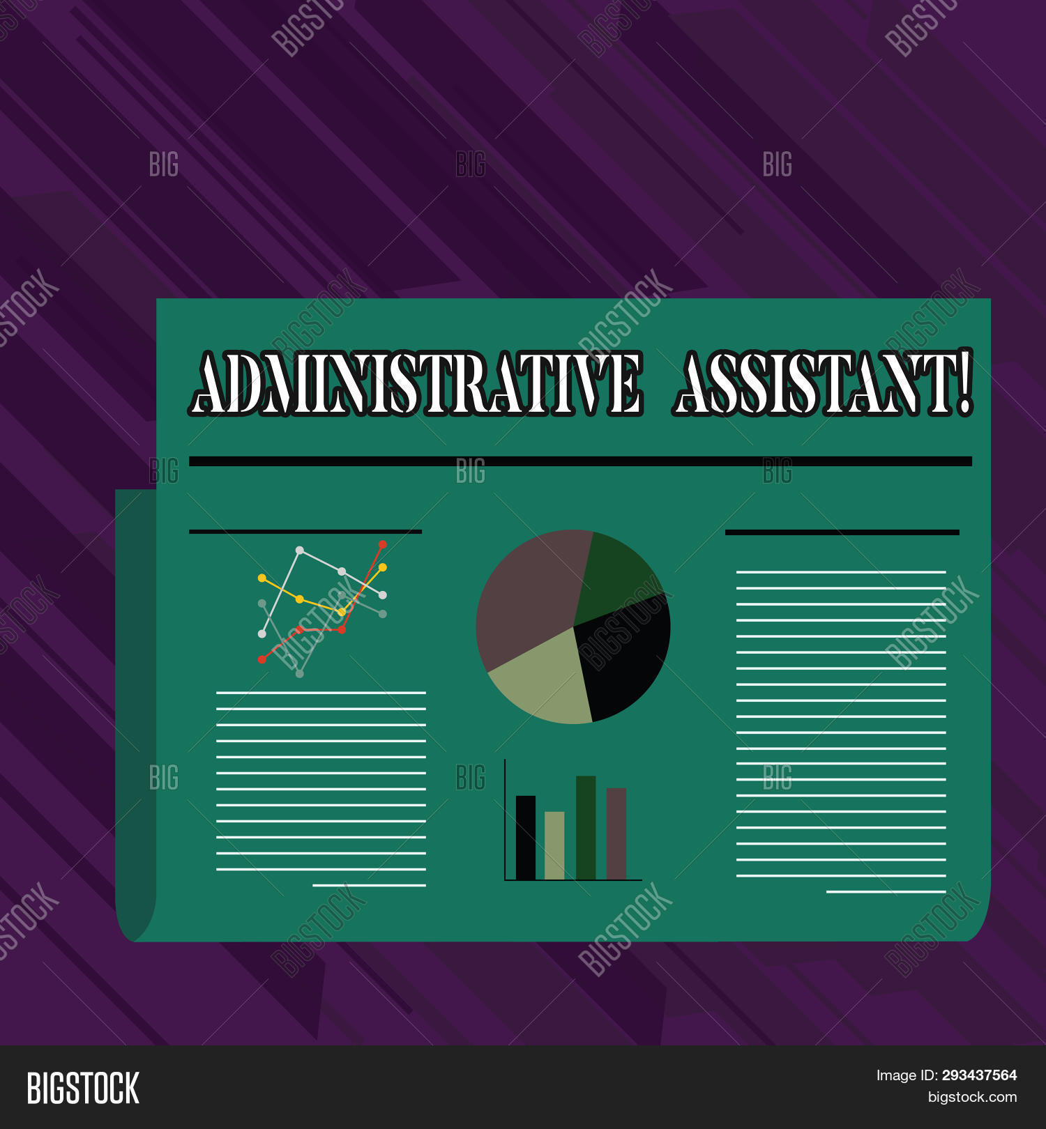 conceptual hand writing showing administrative assistant  business photo  showcasing demonstrating em