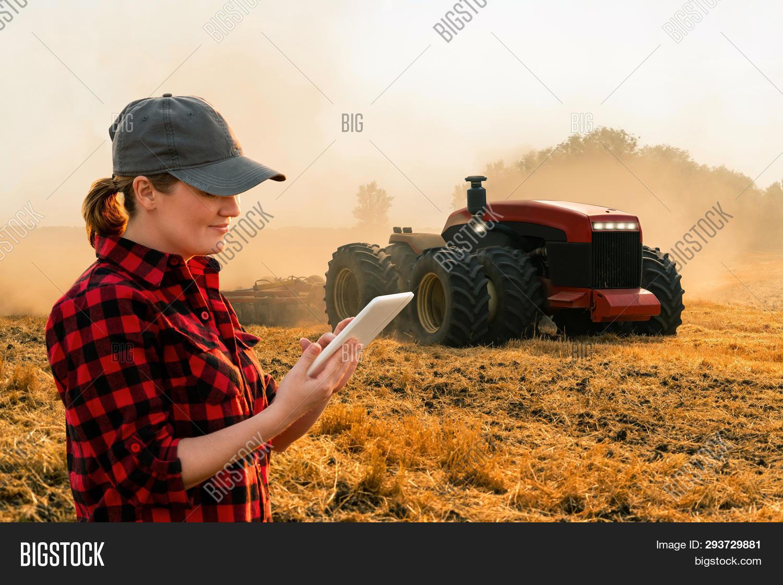 Woman Farmer Digital Image & Photo (Free Trial) | Bigstock