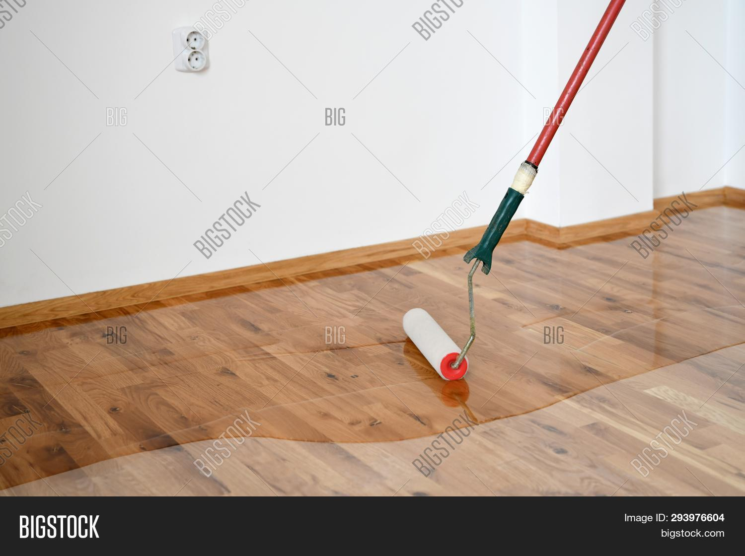 Lacquering Wood Floors Image Photo Free Trial Bigstock