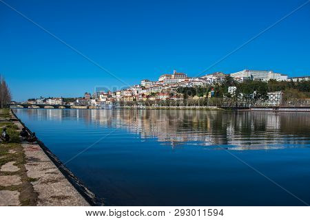 View Of Coimbra City In Portugal
