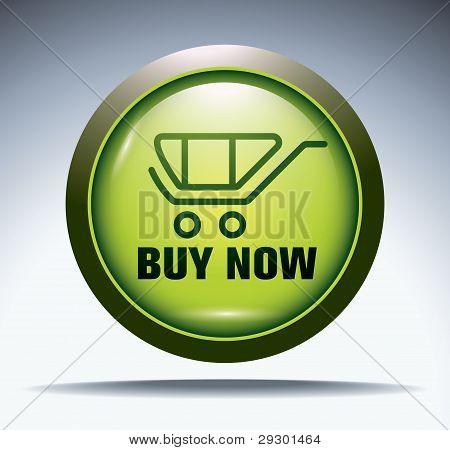 green e-commerce button