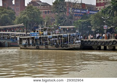 Ferry Dock In Kolkata