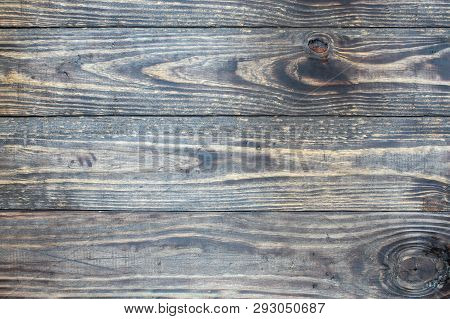 Distressed  Wooden Texture Background / Backdrop. Image Shot From Top In Overhead View.