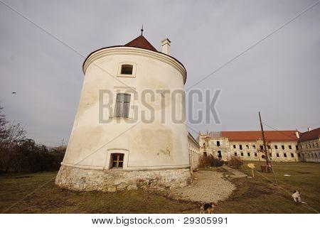 View over Banffy Castle, Bontida, Romania