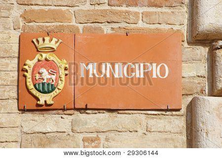 Town Hall of Ripatransone, marche region, Italy