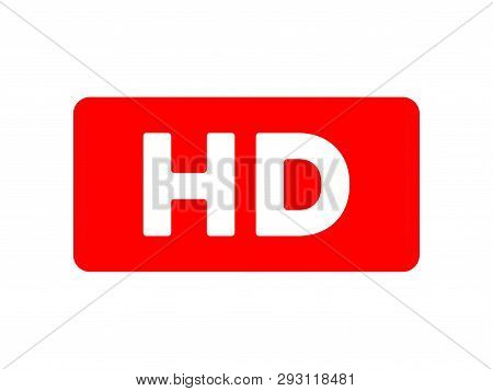 Hd Video Text Sign Isolated On The White Background, Hd Sticker, Hd Plate