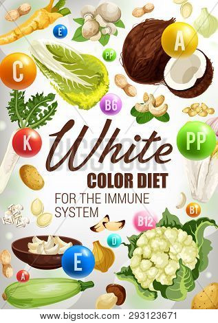 White Food Color Diet Vector & Photo (Free Trial) | Bigstock