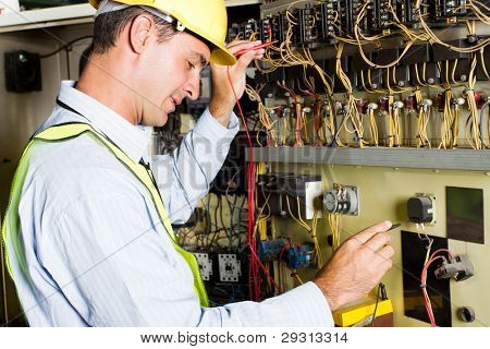 Elektriker industrielle Prüfmaschine