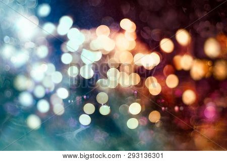 Bright Light Spots Abstract Bokeh Blurred Texture Background