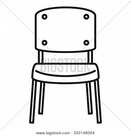 Office Chair Icon. Outline Office Chair Vector Icon For Web Design Isolated On White Background