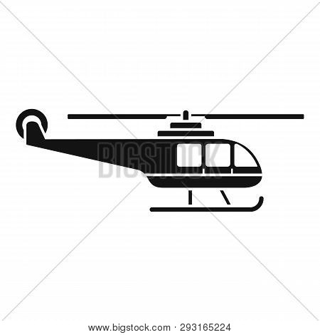 Lifeguard Helicopter Icon. Simple Illustration Of Lifeguard Helicopter Vector Icon For Web Design Is