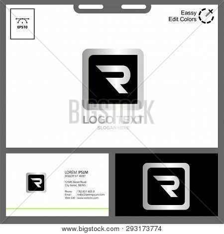 Logo Initial Letter R Can Used In Web Logo, An Business Card Name