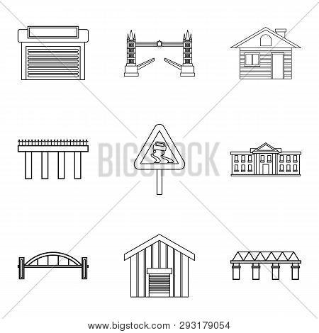 City Lifestyle Icons Set. Outline Set Of 9 City Lifestyle Icons For Web Isolated On White Background