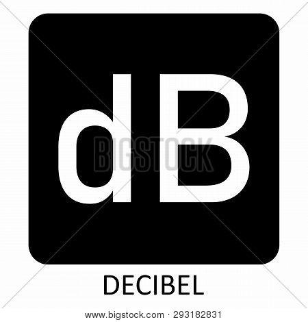 The White Decibel Symbol Illustration On Dark Background