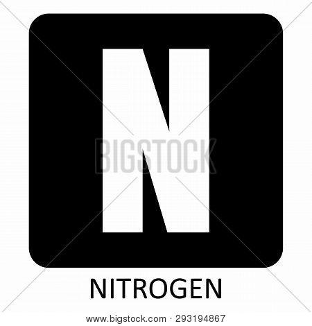 The White Nitrogen Symbol Illustration On Dark Background