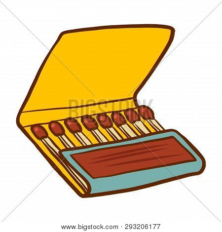 Safety Match Ignite Burn Icon. Cartoon Illustration Of Doodle Safety Match Vector Icon For Web Isola