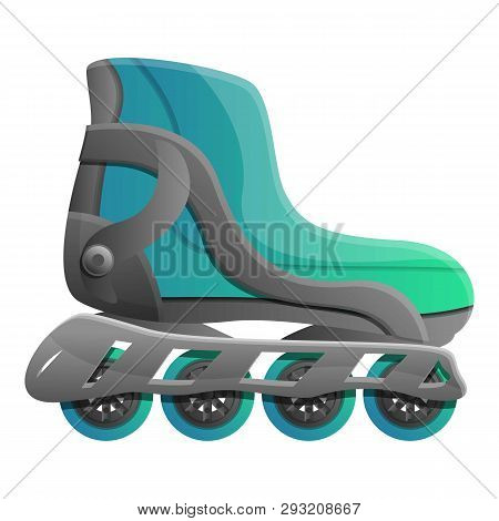 Pro Inline Skates Icon. Cartoon Of Pro Inline Skates Vector Icon For Web Design Isolated On White Ba