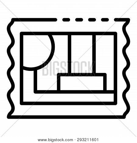 Post Timbre Icon. Outline Post Timbre Vector Icon For Web Design Isolated On White Background