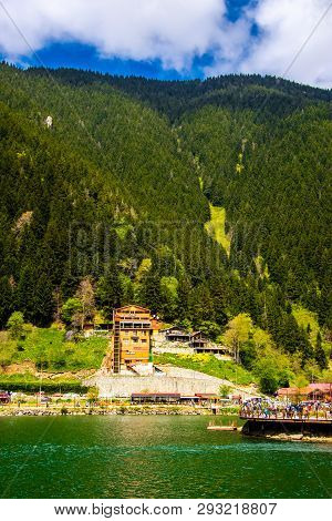 Wonderful Landscape Of The Uzungol In The City Of Trabzon, 22 April 2018 Turkey