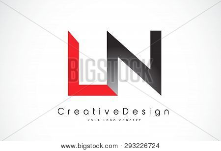 Red And Black Ln L N Letter Logo Design In Black Colors. Creative Modern Letters Vector Icon Logo Il