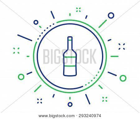 Wine Bottle Line Icon. Merlot Or Cabernet Sauvignon Sign. Quality Design Elements. Technology Wine B