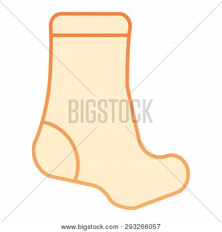 Sock flat icon. Textile clothing orange icons in trendy flat style. Hosiery gradient style design, designed for web and app. Eps 10. poster