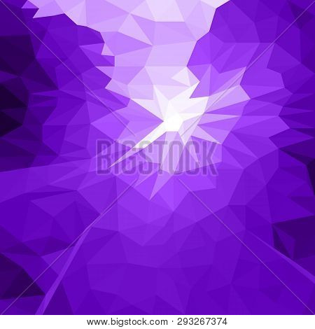 Vector Abstract Purple Background Of Flash Or Light. Geometric Fond With Blur Effect. Illustration O