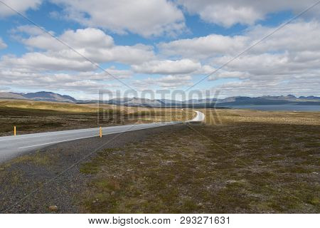 The Ring Road In Iceland. Route 1 Or The Ring Road Is A National Road In Iceland That Runs Around Th