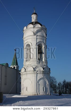 Russia, Moscow. St. George Bell Tower in Manor Kolomenskoe. poster