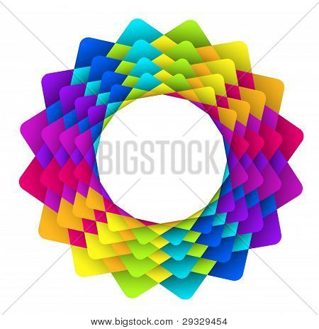 Geometric Rainbow Flower
