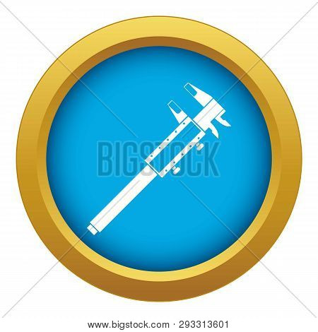 Vernier Caliper Icon Blue Vector Isolated On White Background For Any Design