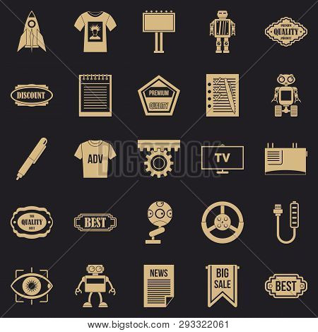 Press Room Icons Set. Simple Set Of 25 Press Room Vector Icons For Web For Any Design