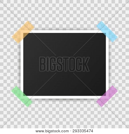 Photo Frame Mockup Design. Realistic Photograph With Blank Space For Your Image.  Vector Stock Illus