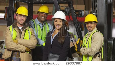 Group portrait of industry workers
