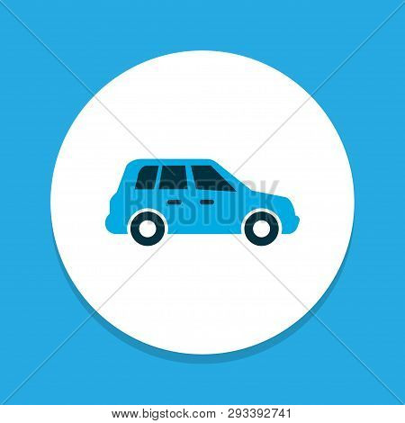 Car Icon Colored Symbol. Premium Quality Isolated Crossover Element In Trendy Style.