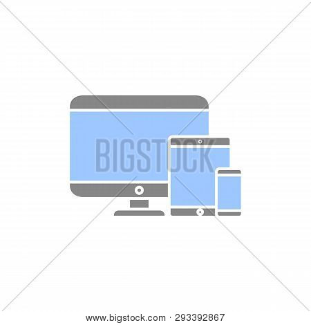 Cross-platform Software Icon. Modern Vector Illustration. 3 Types Of Devices. Three Types Of Gadgets