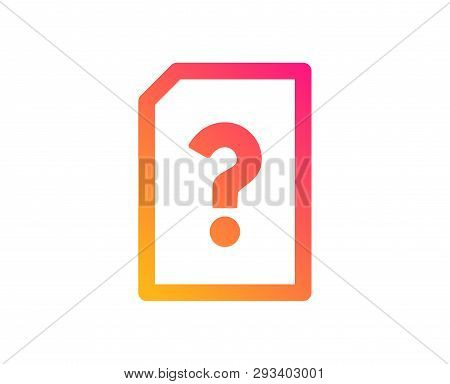 Unknown Document Icon. File With Question Mark Sign. Untitled Paper Page Concept Symbol. Classic Fla