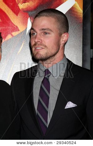 LOS ANGELES - JAN 25:  Stephen Amell arrives at  the