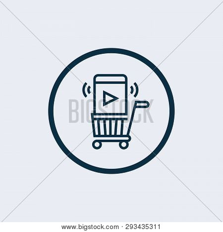 E-commerce Icon Isolated On White Background. E-commerce Icon Simple Sign. E-commerce Icon Trendy An