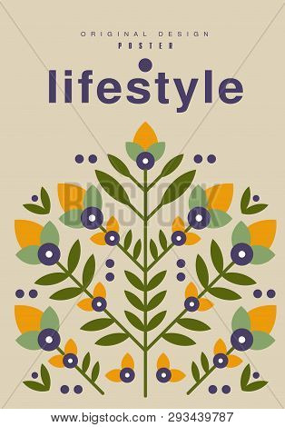 Lifestyle Poster Original Design, Ecological Template For Card, Banner, Flyer, Invitation, Brochure
