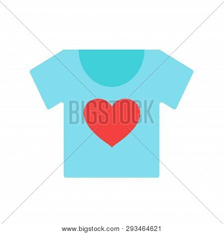 T-shirt. T-shirt Blue. T-shirt With The Logo Of The Heart. Vector Illustration. Eps 10.