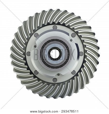 The differential gear on white background 3d illustration without shadow poster